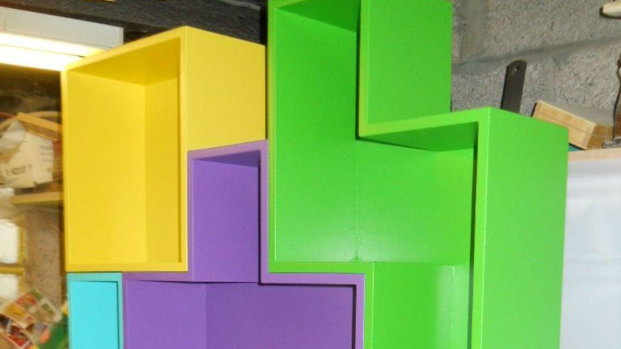 Create Modular Tetris Shelves for Fun and Practical Storage