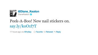 Illustration for article titled Diane Keaton Rocks Nail Stickers Like a BAMF