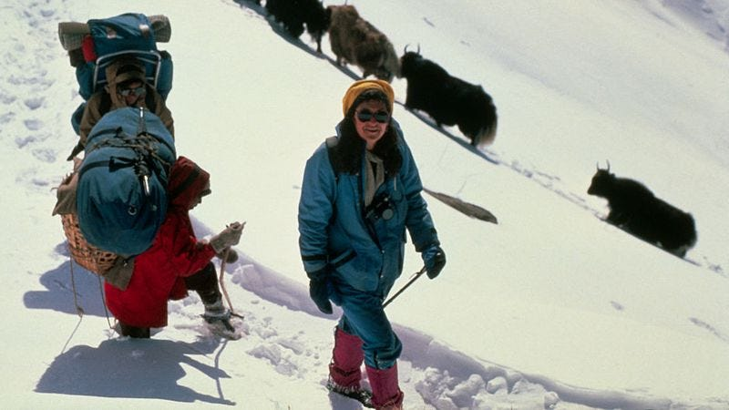 Arlene Blum (right) in the Himalayas (Photo: Bettmann/Getty Images)