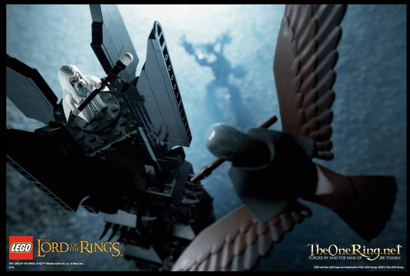 Illustration for article titled Ents, eagles and Christopher Lees abound in Lego's LotR Orthanc set