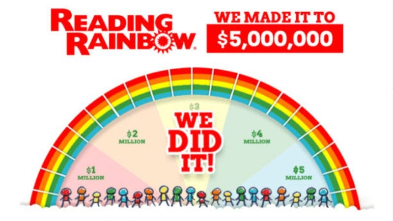 Illustration for article titled The Reading Rainbow Kickstarter netted $6 million, with help from Seth MacFarlane