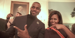 LeBron James and Michelle ObamaTwitter