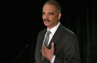 U.S. Attorney General Eric Holder delivers the keynote address to the National Association of Attorneys General Traning and Research Arm's symposium on the reduction of crime at the The Westin Georgetown hotel May 5, 2014 in Washington, D.C.Chip Somodevilla/Getty Images