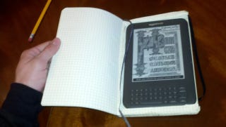Illustration for article titled DIY Moleskine Kindle Case Offers Protection and Space for Notes