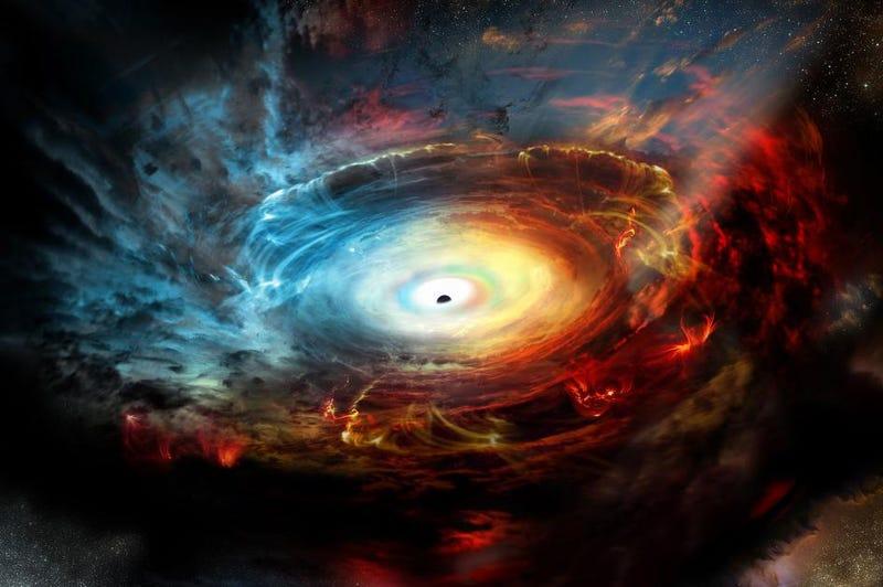 Ilustración de un agujero negro supermasivo en la Vía Láctea. Nrao
