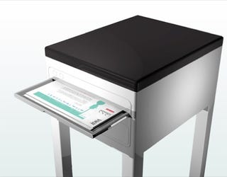 Illustration for article titled Printer Table Concept Saves Space and Looks Good