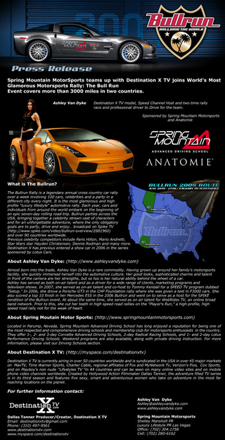 Illustration for article titled Ashley Van Dyke Is NOT Driving A Corvette ZR1 In The Bullrun