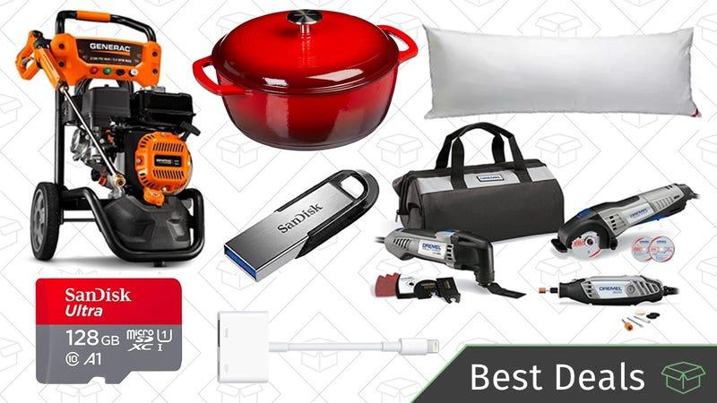 Illustration for article titled Tuesday's Best Deals: SanDisk Sale, Dutch Oven, Dremel Combo Kit, and More