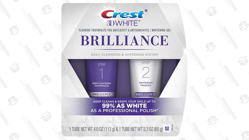 Crest 3D White Brilliance Toothpaste System | $8 | Amazon | Clip the $2 coupon