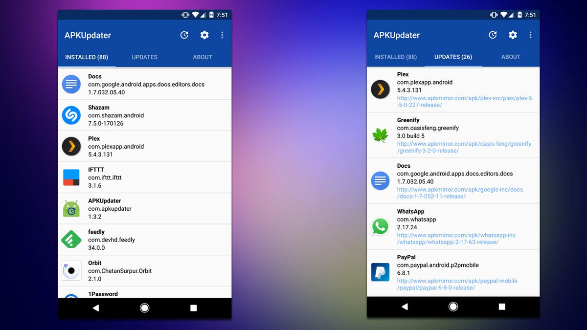 APKUpdater Finds Updates To Your Apps Without the Google Play Store