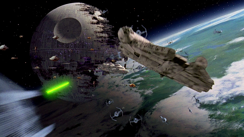 The Battle of Endor, as seen in Return of the Jedi.