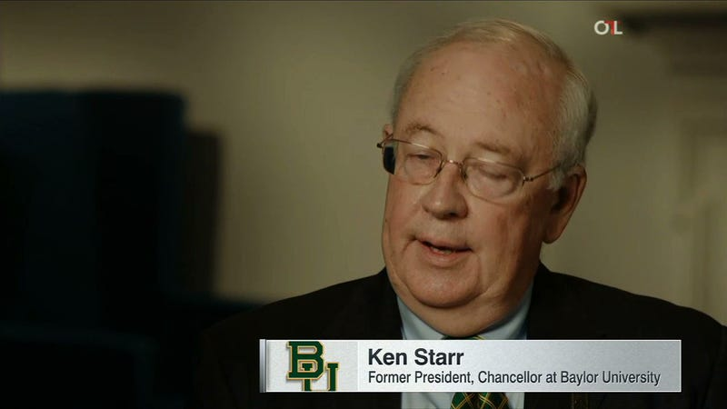 Illustration for article titled Baylor's Ken Starr Is Full Of Shit
