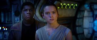 John Boyega as Finn and Daisy Ridley as Rey in Star Wars: The Force AwakensYouTube/Star Wars: The Force Awakens
