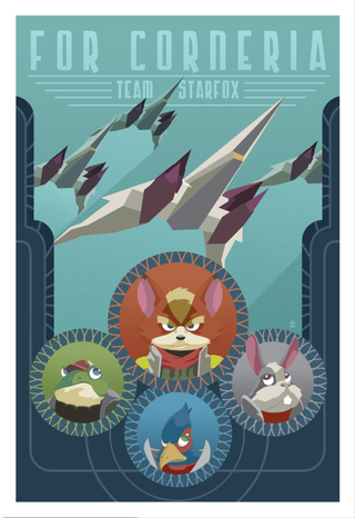 Illustration for article titled Starfox Propaganda Poster