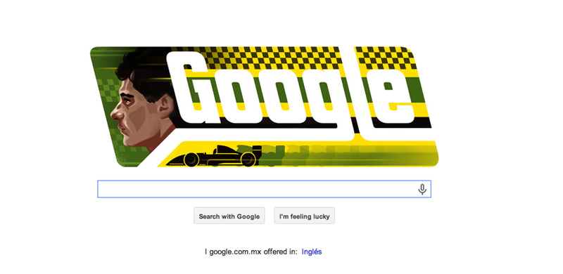 Illustration for article titled Did Your Country Get The Ayrton Senna Google Doodle?