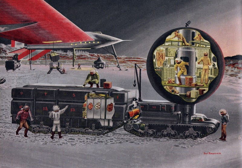 Illustration for article titled Wernher von Braun's Martian Chronicles