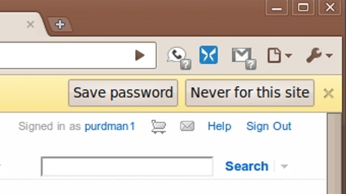 How to save the password in the contact