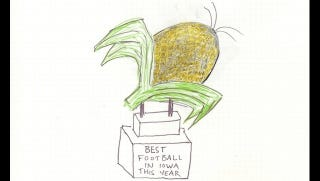 Illustration for article titled Readers: Let's Come Up With A Less Awful Trophy For The Winner Of Iowa-Iowa State