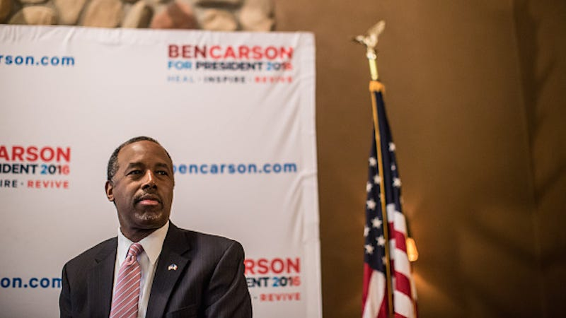 Illustration for article titled Ben Carson Will Return Home to Florida After Iowa Caucuses