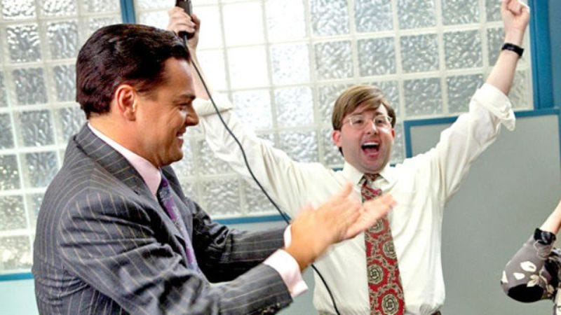 """Illustration for article titled Wolf Of Wall Street lawsuit refuted with classic """"second shitty toupee"""" defense"""