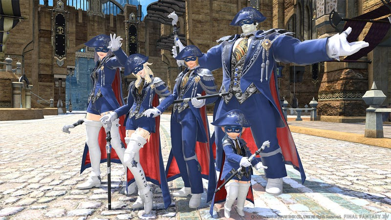 The first skill Blue Mages learn is fashion sense.