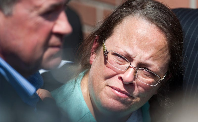 Illustration for article titled Kim Davis's Lone Gay Friend: We're Not Actually Friends