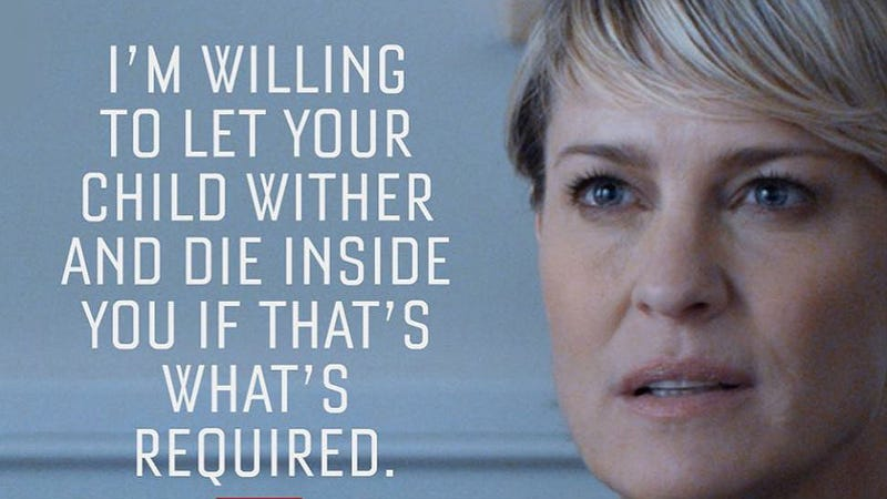 Illustration for article titled Claire Underwood Is Far Too Complicated for a 'Feminist or Not' Debate