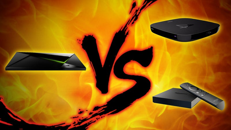 Illustration for article titled 4K Set-Top Box Showdown: Roku 4 vs. SHIELD TV vs. Fire TV