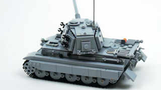 Illustration for article titled Motorized LEGO Tank Cries For A Diorama Built Around It