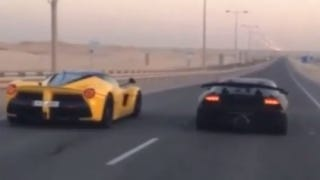 Illustration for article titled LaFerrari Races Lamborghini Sesto Elemento In, Where Else, Qatar