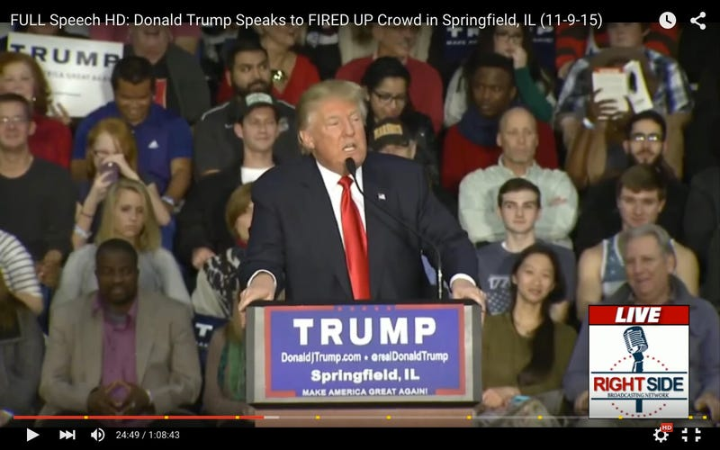 YouTube screenshot via America Loves Donald Trump