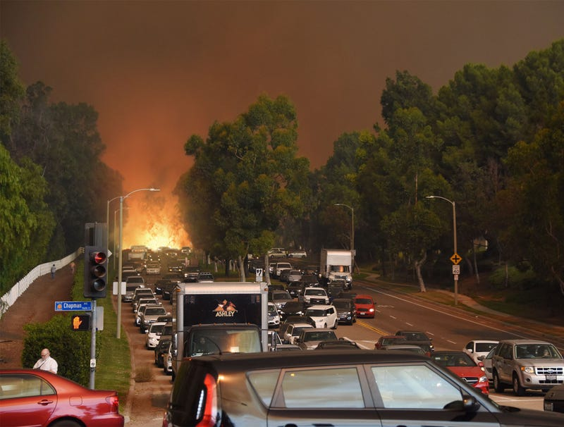 Illustration for article titled Frustrated Wildfire Spends Hours Stuck In L.A. Traffic