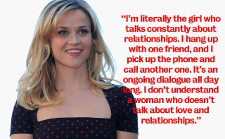 Illustration for article titled Being Reese Witherspoon's Friend Means Listening To Her Blab About Dudes