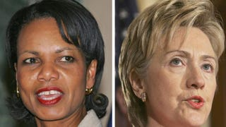 Condoleezza Rice; Hillary ClintonFILES/AFP/Getty Images; FILES/AFP/Getty Images