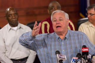 North Charleston, S.C., Mayor Keith Summey answers questions during a press conference held April 8, 2015, in North Charleston after the fatal shooting of Walter Scott by police.Richard Ellis/Getty Images