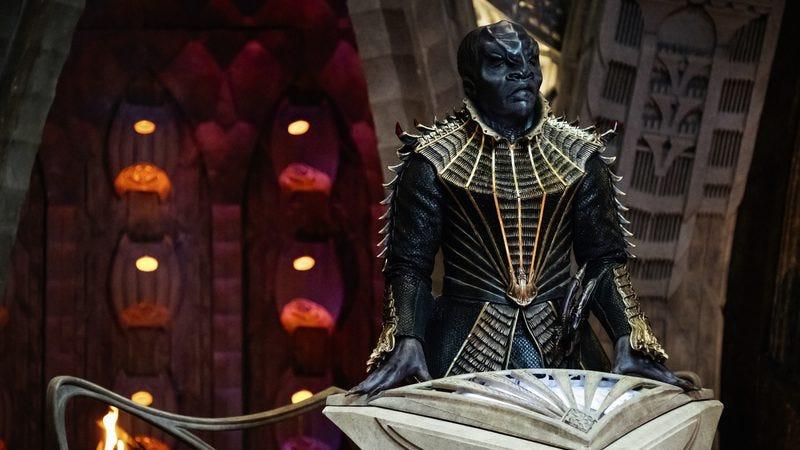 Chris Obi stars as Klingon leader T'Kuvma (Photo: Jan Thijs/CBS All Access)