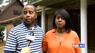 Paul and Angela Thompson Roby claim police pulled a gun on their 6-year-old son. Fox 6 Screenshot