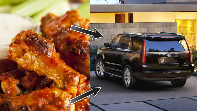 Illustration for article titled How Many Chicken Wings Can You Shove Into A Cadillac Escalade?