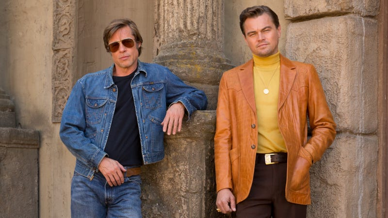Illustration for article titled Leonardo DiCaprio and Brad Pitt bring '70s Sears catalog to life in first look at Tarantino's latest