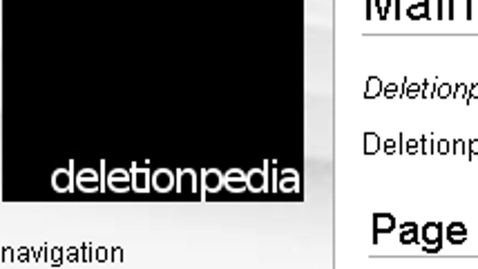 DeletionPedia Compiles Deleted...