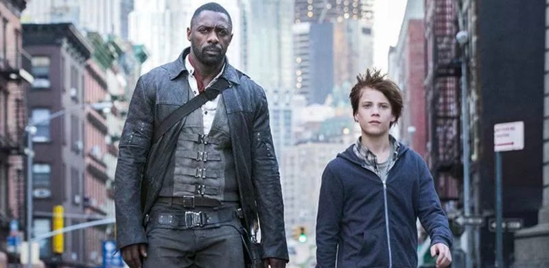 Roland and Jake (Idris Elba and Tom Taylor) stroll through New York in The Dark Tower. Image: Sony