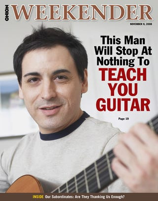 Illustration for article titled This Man Will Stop At Nothing To Teach You Guitar