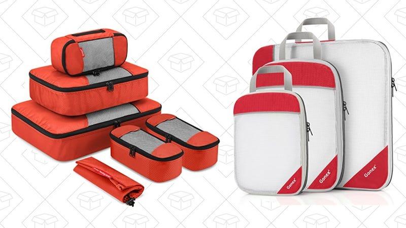 Travel Organizing Packing Cubes | $13 | Amazon | Use code MO7QOGLATravel Packing Organizers Compression Pouches  | $16 | Amazon | Use code SBCGD83L