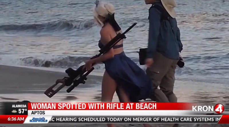 Illustration for article titled Cosplayer's Giant Rifle Prompts Sheriff's Warning