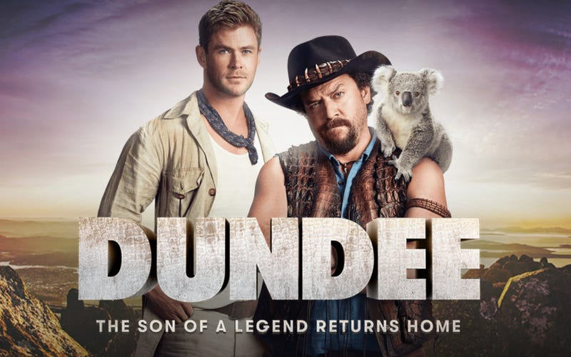 danny mcbride s dundee movie is really just a super bowl ad. Black Bedroom Furniture Sets. Home Design Ideas
