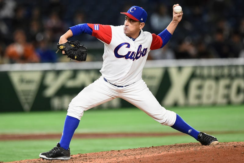 Pitcher Leandro Martinez #71 of Cuba throws in the top of the fifth inning during the World Baseball Classic Pool E Game Five between Netherlands and Cuba at the Tokyo Dome on March 15, 2017 in Tokyo, Japan.