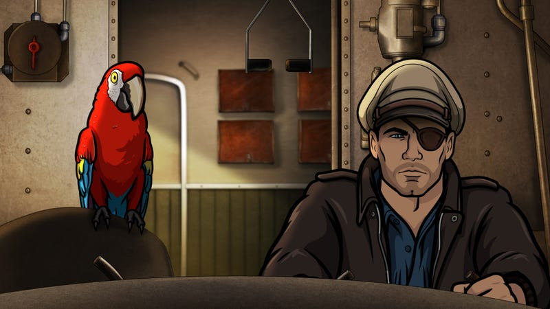 Illustration for article titled Archer is now a TV show with a wacky talking parrot, and honestly, we're kind of okay with that
