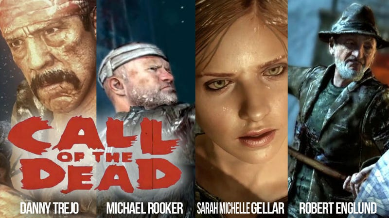 Illustration for article titled Buffy, Freddy and Machete Are Call of Duty's New Zombie Slayers