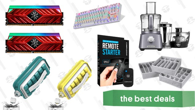 Saturday s Best Deals: One-Way Remote Starter Kit, Icebreaker Pop Ice Maker, 3-Pack Drawer Organizers, Cuisinart 3-in-1 Kitchen System, XPG 16GB DDR4 RAM, Redragon Gaming Keyboard, and More