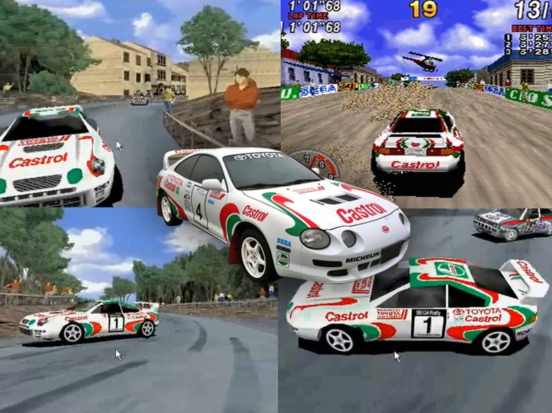Illustration for article titled Sega Rally Fan Turns Car Into Video-Game Star